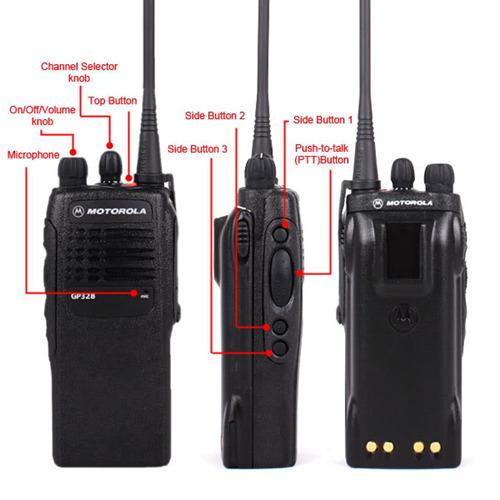 MOTOROLA GP328 UHF 4W Walkie Talkie