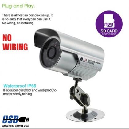 IR Bullet MicroSD Day & Night Outdoor Surveillance CCTV Camera