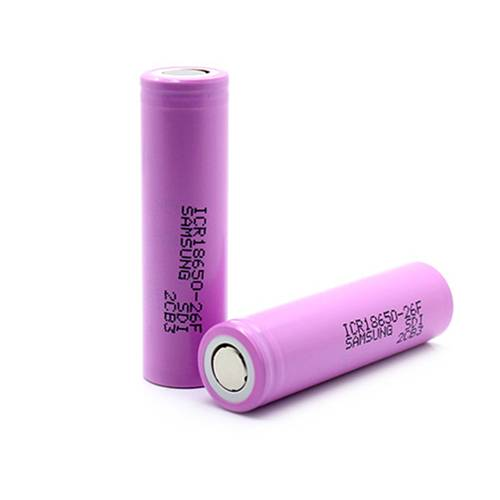 SAMSUNG 18650 3.7V 2600mAh Rechargeable Battery - 2 unit
