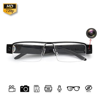 HD200 Half Frame Glasses Spy Hidden Pinhole Camera