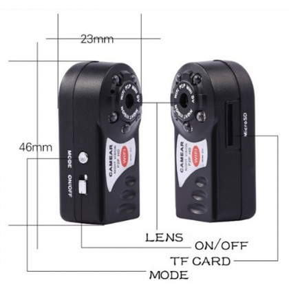 Q7 Night Vision Wifi P2p Hidden Pinhole Spy Camera
