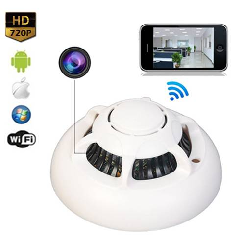 UFO Smoke Detector WiFi Spy Hidden Camera
