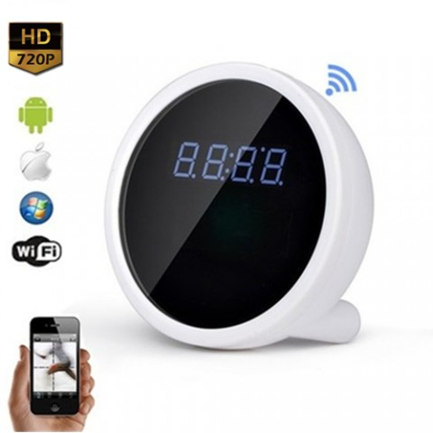 Alarm Clock WiFi P2p Ip Spy Hidden Camera