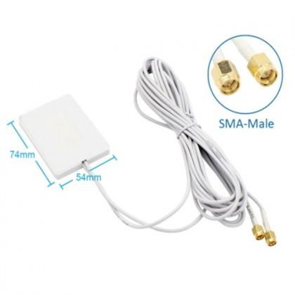 4G LTE 28dbi Sma Male Dual Connector 700~2700mhz Mini Panel Antenna