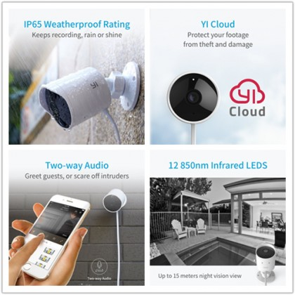 XIAOMI YI Outdoor Day & Night Wireless Surveillance CCTV Camera