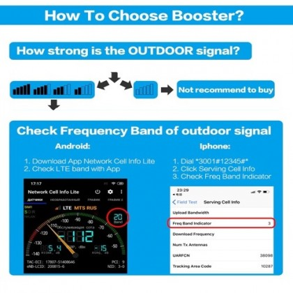 2G/GSM 3G/WCDMA 4G/LTE Band 8,1,7 Tri Band Mobile Signal Booster Repeater