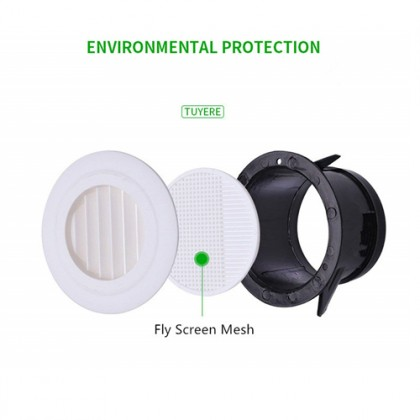 ABS 200mm Air Vent Ducting Ventilation Exhaust Cover