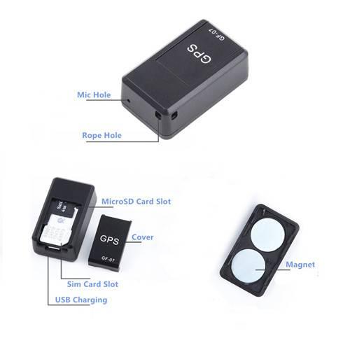 GF-07 LBS Tracker + Voice Recorder + GSM Audio Listener