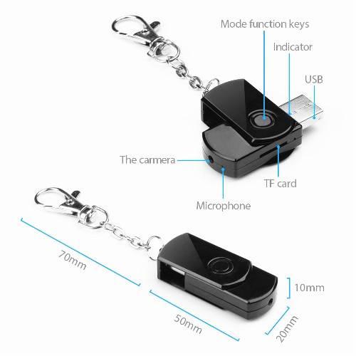 U-Disk USB Keychain Spy Hidden Pinhole Camera