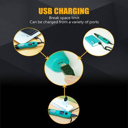 Pro'sKit PT-5205U 3.7V USB Charging Electric Grinder Set