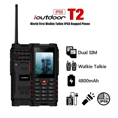IOUTDOOR T2 UHF IP68 Waterproof Walkie Talkie Mobile Phone