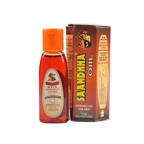 Saandhha Male Enlargement Herbal Massage Oil - 15ml