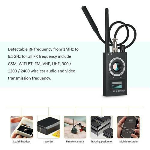 K18 GPS Tracker Finder + Spy Bug Wireless RF Signal Detector