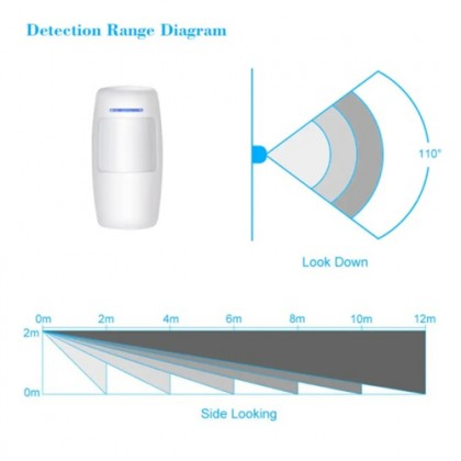 DG-670D 433mhz Wireless PIR Motion Sensor