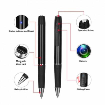 V8 Ball Pen Full HD Hidden Pinhole Spy Camera