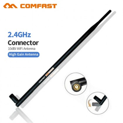 COMFAST 10dBi 2.4ghz High-gain RP-SMA Omni WiFi Antenna