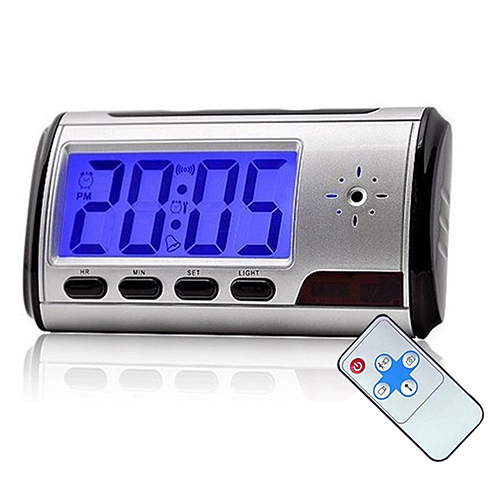 Digital Alarm Clock Spy Hidden Pinhole Camera - Motion Detect