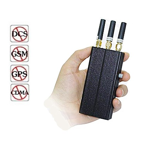 3 Band 2G GPS Portable Mobile Signal Jammer