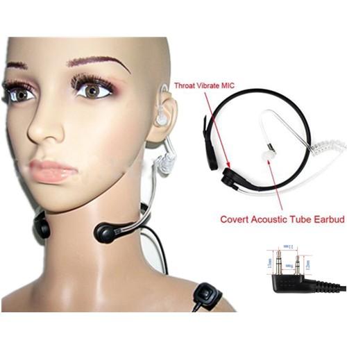 Biker Throat Vibration PTT Earphone - K Port