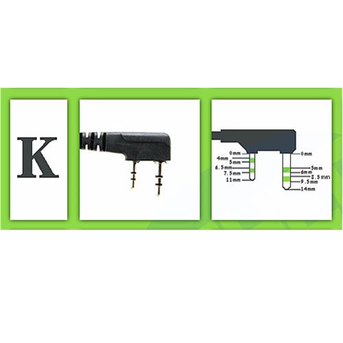 Double Button Hook PTT Earphone - K Port