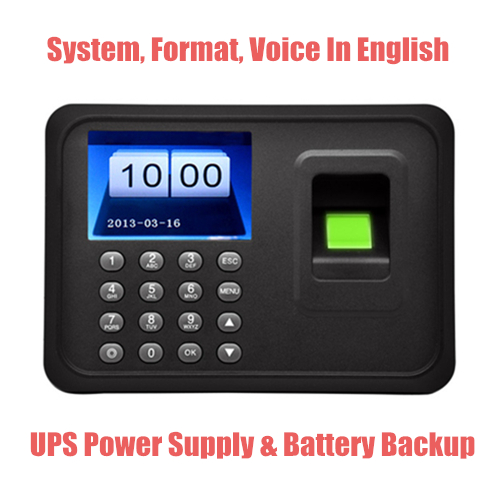 T5 Fingerprint Time & Attendance Machine - With Backup Battery