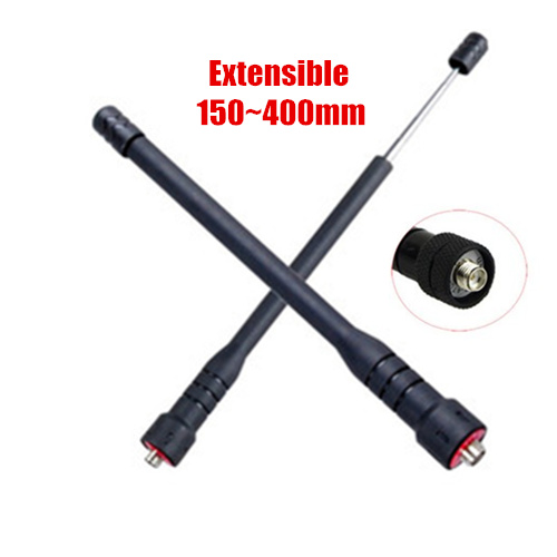 SMA Female Telescopic UHF Walkie Talkie Antenna