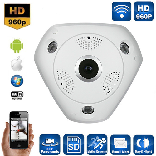 VRCAM 360 Panoramic Day & Night WiFi P2p Cctv Camera