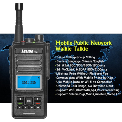 HLD CD860 Global Mobile Public Network Walkie Talkie - 9999KM