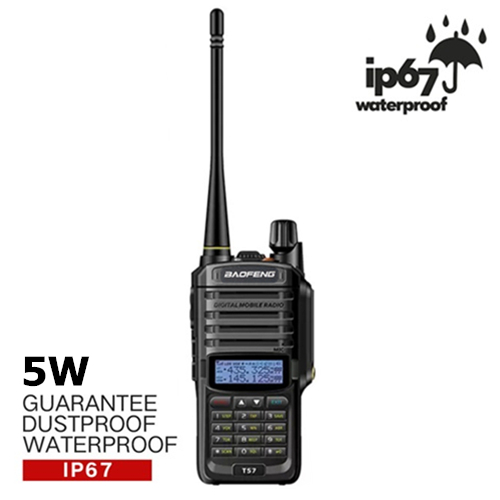 BAOFENG T57 Dual Band 5W IP67 Waterproof Walkie Talkie - 5KM