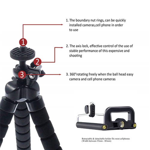Universal DSLR Smartphone Flexible Mini Octopus Tripod